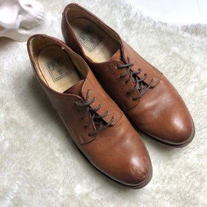 Frye |  Brown Leather Heeled Dress Shoes Size 9.5B